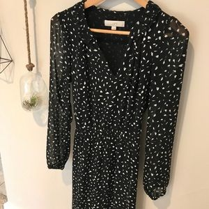 LOFT Sheer-sleeve Dress